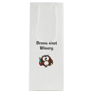 Dronken de giftzak van de Wijnmakerij van de Uil Wijn Cadeautas
