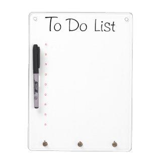 Droog wis Raad - om Lijst te doen Whiteboard