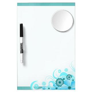 Droog-wist de Blauwe Hibiscus van Aqua Raad 12x8 Whiteboard Met Spiegel