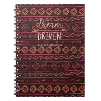 Droom Gedreven StammenPatroon Boho met Notitieboek