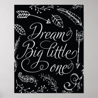 Droom Grote Kleine Zwart & Wit Poster