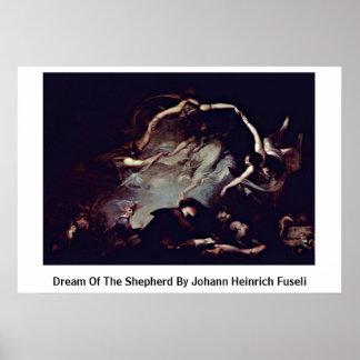 Droom van de Herder door Johann Heinrich Fuseli Poster