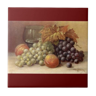 Druif of de Tegel of de Treeft van de Wijn Tegeltje