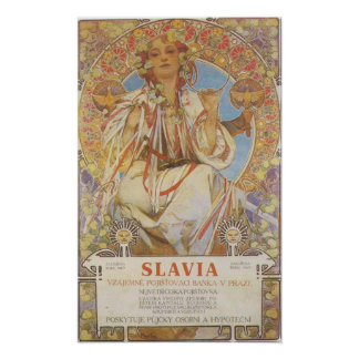 Druk Alphonse Mucha - Slavia Poster