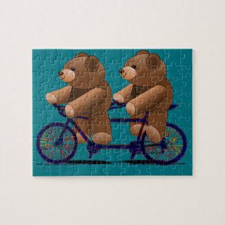 Druk de Achter elkaar van de Teddybeer van de Puzzel