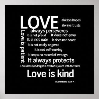 Druk - de Liefde is Geduldige Willekeurige SQW&B Poster