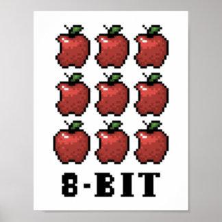 druk de met 8 bits van de Kunst van het Pixel van Poster