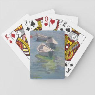 Druk drie Dories op speelkaarten