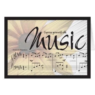 Druk me met Muziek Notecard uit Kaart