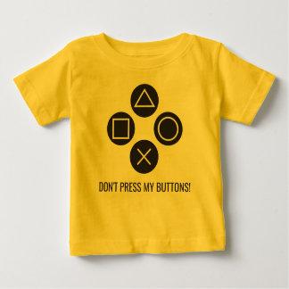Druk Mijn Knopen niet Baby T Shirts