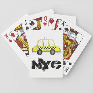 Druk van de Cabine van de Stad van de taxi NYC de Pokerkaarten