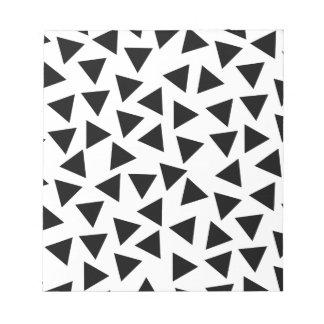 Druk van de Driehoek van vette letters de Notitieblok