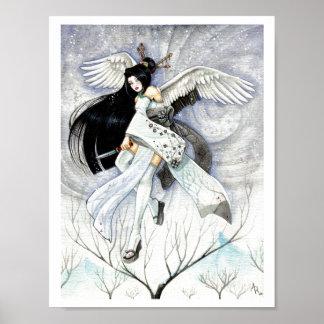 Druk van de Kunst van de sneeuw & van de Geisha va Print