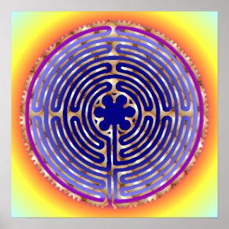 Druk van de Wegen van de Parel van het Labyrint va Poster