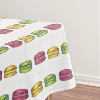 Druk van Foodie van het Koekje van Macaron van de Tafelkleed