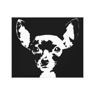 Druk van het Canvas van Chihuahua de Zwarte &