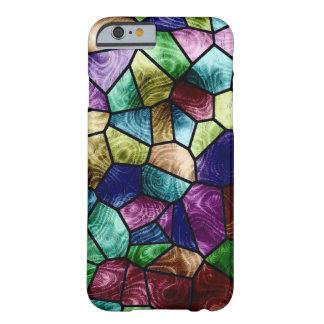 Druk van het Glas van de Vlek van het mozaïek de Barely There iPhone 6 Hoesje