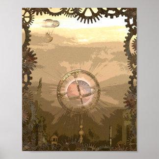 Druk van het Poster van de fantasie de Steampunk
