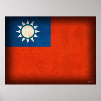 Druk van het Poster van Taiwan Taipeh de Vlag Vero