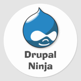 Drupal Ninja Ronde Sticker