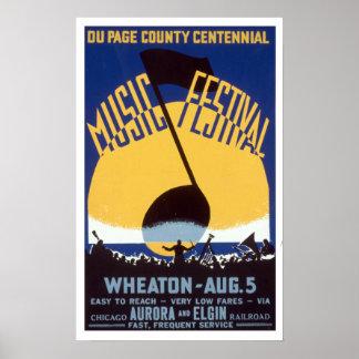 Du Festival WPA van de Muziek van de Provincie van Poster