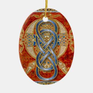 Dubbel Blauw Ornament 4 van Cloisonne van de