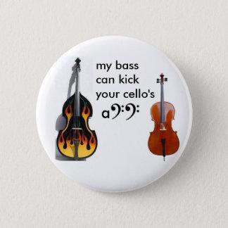 Dubbele baarzen versus cello ronde button 5,7 cm