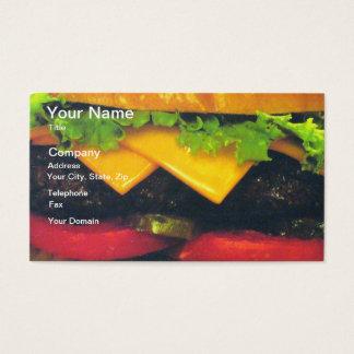 Dubbele LuxeHamburger met Kaas Visitekaartjes