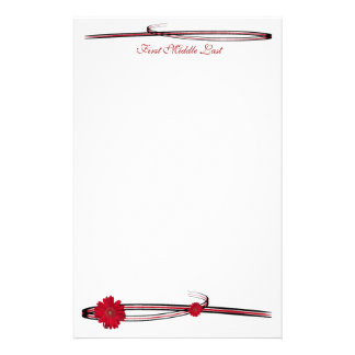 Dubbele Rode Gerber Daisy Sweep Briefpapier