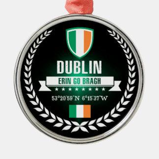 Dublin Zilverkleurig Rond Ornament