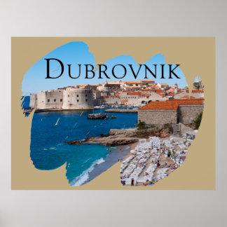 Dubrovnik met een Uitzicht Poster