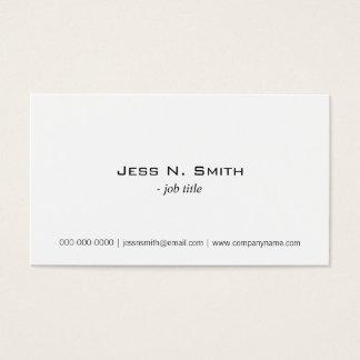 Duidelijk, eenvoudig wit visitekaartje visitekaartjes