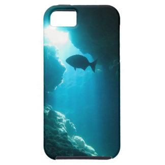 Duidelijke blauwe hol en vissen tough iPhone 5 hoesje