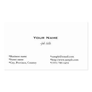 duidelijke, eenvoudige en koele witte profielkaart visitekaartjes