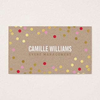 DUIDELIJKE GEWAAGDE MINIMALE confettien gouden Visitekaartjes