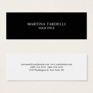 Duidelijke Minimalistische Professionele Zwarte Mini Visitekaartjes