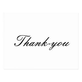 duidelijke Thank-you briefkaarten