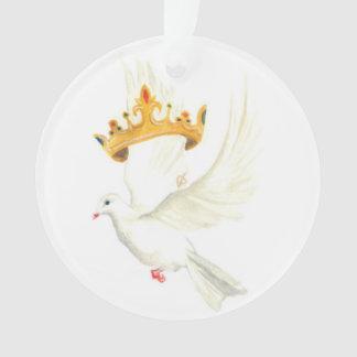 Duif en kroon ornament