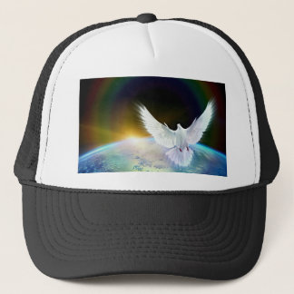 Duif van de Heilige Geest van de Vrede over Aarde Trucker Pet