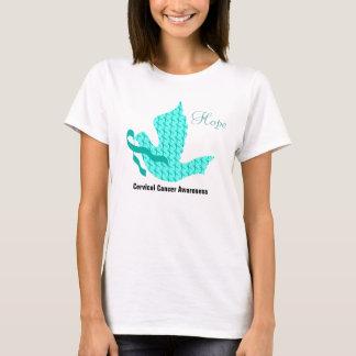 Duif van Hoop - Blauwgroen Lint (Cervicale Kanker) T Shirt