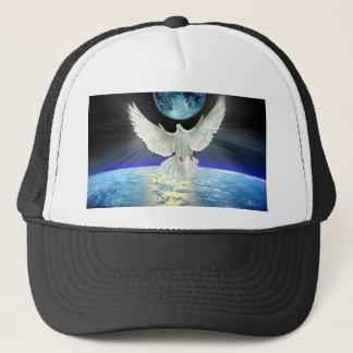 Duif van Vrede over de Zonsopgang van de Aarde Trucker Pet