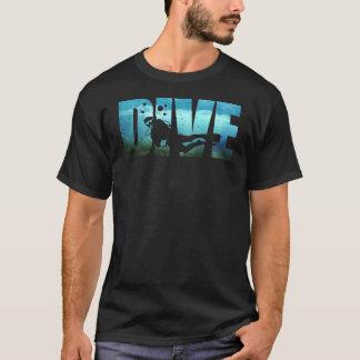 DUIK de Mannen Zwarte T-shirt van het Vrij duiken