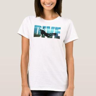 DUIK de T-shirt van de Vrouwen van het Vrij duiken