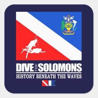 Duik Solomons Vierkante Sticker