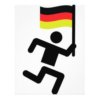 Duits agentpictogram flyer 21,6 x 27,9 cm