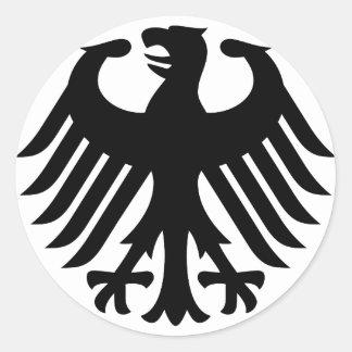 Duits Eagle Ronde Sticker
