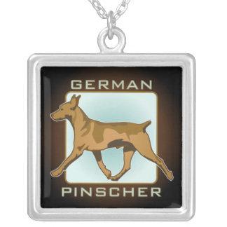 Duits echt zilveren ketting Pinscher