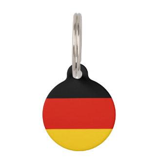 Duits het huisdierenlabel van de vlagdouane voor huisdierpenning