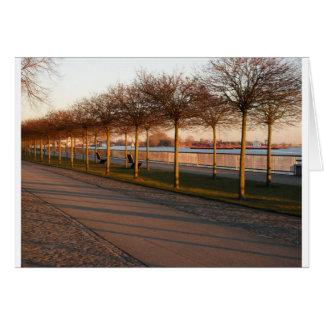 Duits Park bij Schemer Wenskaart