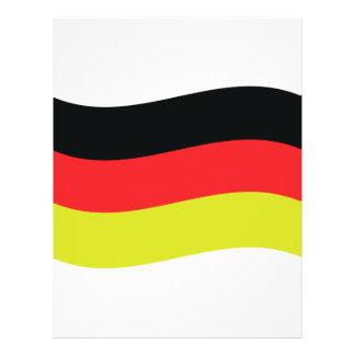 Duits vlagpictogram flyer 21,6 x 27,9 cm